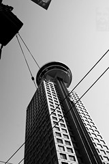 Harbour Centre (cjimhow) Tags: vancouver bc canon cjimhow colinhowarth harbourcentre downtown building blackwhite bw