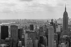 NYC Skyline (Chris.Har) Tags: newyorkcity newyork skyline empirestatebuilding topoftherock blackwhite a7r