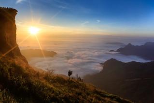 Sea mist with sunrise