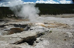 Veteran Geyser (9 August 2011) 2 (James St. John) Tags: back basin yellowstone wyoming geyser veteran norris