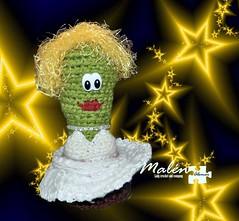 Marilyn Monroe (Malen Alomar /malenojodoro) Tags: lana crochet hilo amigurumi elgordoyelflaco cactuscrochet amigurumicineclsico cactusmarilinmonroe