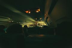 Embark (basheertome) Tags: plane dark airplane lights interior delta off inside