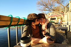 (bleuclementine.) Tags: birthday light sun lake water austin lesbian vegan kiss december texas natural skin mocha 7d sweets soy lesbians latte cofee 2012 mozarts tamaron sooc canon7d