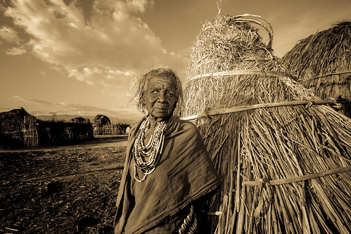 portrait of a beautiful old woman tribe Erbore