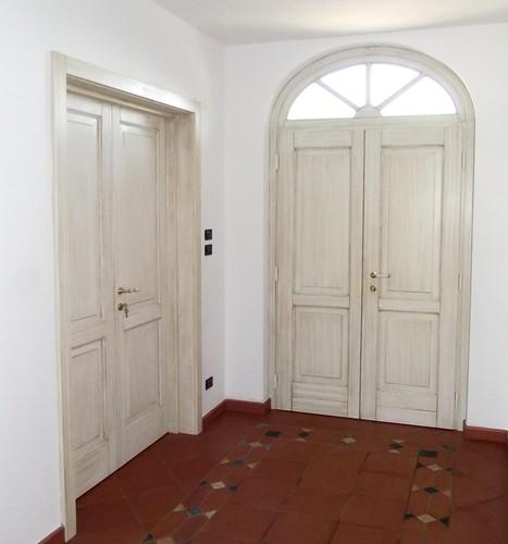 Porta interna e portoncino con sopraluce ad arco Linea Opera