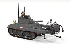 POV_M4 Sherman Crab (Florida Shoooter) Tags: lego ww2 minesweeper povray ldd m4shermancrab