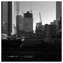 Construction: Transbay in SOMA (Mike Cialowicz) Tags: sf sanfrancisco california ca blackandwhite bw project construction crane 11 terminal cranes soma bnw iphone transbayterminal transbay iphone5 transbaytransitcenter uploaded:by=flickrmobile flickriosapp:filter=panda pandafilter