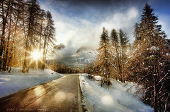 Kindness is like snow - it beautifies everything it covers (PhotoArt Images) Tags: sunset italy snow mountains pocol dolimites bestevergoldenartists photoartimages