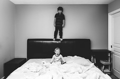 7 (reneejphotos) Tags: river reece jumpingonthebed riverandreece reece5yrsold river16months