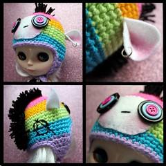 Rainbow Punky Monkey Hat