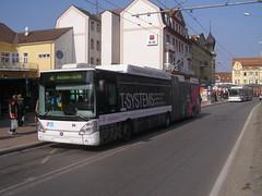 P3093099 DP České Budějovice 68 (Skillsbus) Tags: buses history iveco irisbus czechrepublic trolleybus dpčeskébudějovice tmobile škoda 25tr citelis
