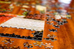 Scattered Pieces (Maggggie) Tags: christmas pieces puzzle scattered odc