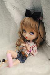 Ayanne @ Oshua ~ (~Jessi-lilip~) Tags: eyes stock violet wig blonde pullip bracelets luts vêtements chatain coolcat stica ayanne eyeships