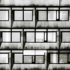 facade (morbs06) Tags: windows bw glass monochrome lines metal architecture facade reflections germany square graphic stuttgart stripes