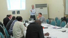Mr Julian Peach of Propcom Mai-karfi facilitating a session