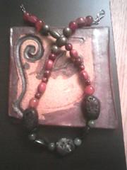 coraljade (abstract ceramic sculpture) Tags: agate coral lava handmade gift hematite 2012 pyrite chocker beadednecklace