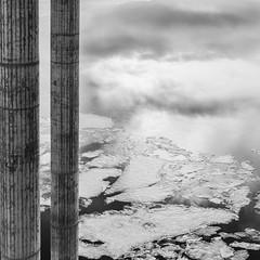 Clouds in water (Geir Vika) Tags: bw vinter vann kristiansand hav vika sjø geir bildekritikk geirvika