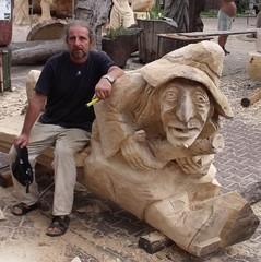 VII Outdoor Sculptor's Meeting in Bierun (romekdziem) Tags: wood bench woodcarving silesia rzeba woodsculpture plener bierun bieru