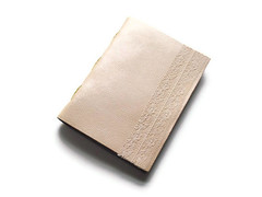 leather cream lace (RUaDSarah) Tags: travel leather paper notebook book handmade lace journal cream bound binding handstitched blankbook jotter handbound longstitch leatherlace leatherjournal boundbook