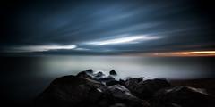 sandgate (richard carter...) Tags: longexposure sunset beach canon kent dungeness sandgate 1635 moodysky eos5dmk2