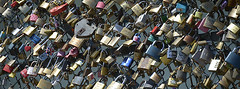 Love Padlocks on the Pont des Arts, Paris, France (Claudio Bacinello) Tags: travel bridge paris france building love horizontal loving french outside daylight europe european day exterior affection outdoor lock naturallight bond daytime caring care fr affectionate westerneurope bonding westerneuropean colorimage buildingexterior colourimage claudiobacinello