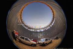Maut ka kuaa/Well of death (before the show), Mahim ka mela, Mahim, Mumbai, Maharashtra - India (Humayunn Niaz Ahmed Peerzaada) Tags: panorama india cars car bike lens model driving photographer force risk bikes well fisheye tokina actor maharashtra mumbai stunts motorcyclists humayun centrifugal mobikes verticalwall madai centrifugalforce mobike tokinalens 360panorama motordrome peerzada deolali tokinafisheye humayunn peerzaada kudachi kudchi humayoon humayunnnapeerzaada wwwhumayooncom humayunnapeerzaada wellofdeath tokinafisheyelens carnivalsideshow nikond3x 10to17mmf3545 silodrome 360x180virtualpanoramaview mautkakuaa thewellofdeath tokinafisheyelensshaved 360panoramavirtualpanorama virtualkutch 360x180virtualpanoramaview equirectangular360 siloorbarrelshapedwoodencylinder