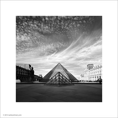 The Louvre Pyramids, Paris (Ian Bramham) Tags: white black paris france sunrise dawn photo pyramid louvre ianbramham