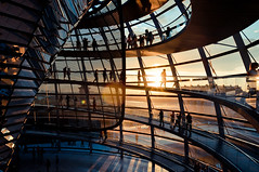 shine in (marin.tomic) Tags: city light sunset shadow urban sun berlin glass silhouette architecture germany deutschland nikon europe shadows sightseeing explore reichstag normanfoster cupola dome d90