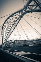 Garbatella (Alessandro Argentieri) Tags: bridge sunset italy rome roma car night automobile italia tramonto cityscape ponte colosseum coliseum notte colosseo garbatella