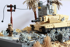 At the Edge of the Future Front (✠Andreas) Tags: tank lego military diorama ustank legotank thepurge legombt thepurgetank thepurgeusa usmbt thepurgeustank