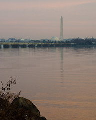 Monumental Sunrise (Tony DeFilippo) Tags: nature virginia washingtondc washingtonmonument sunrisesunset potomacriver jeffersonmemorial mountvernontrail dcmonument