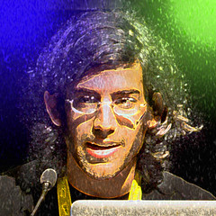 Aaron Swartz - November 8, 1986  January 11, 2013 (DonkeyHotey) Tags: face photomanipulation photoshop photo political politics aaron cartoon manipulation caricature politician commentary swartz aaronswartz politicalcommentary donkeyhotey