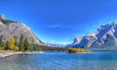 Lake Minnewanka (njchow82) Tags: autumn nature scenic hdr banffnationalpark lakeminnewanka canadianrockies tonemapping photomatrix theworldisbeautiful scenicsnotjustlandscapes nancychow