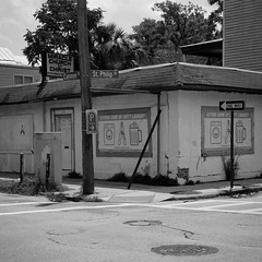 Cleanliness is Next to Godliness (TW Collins) Tags: street signs church bar corner cafe southcarolina charleston intersection oneway juxtaposition laundromat cannonstreet dirtylaundry stphilipstreet miraclechurchofchrist