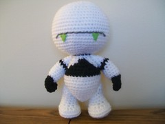 Marvin the Paranoid Android (My Mother's Heritage) Tags: crochet galaxy paranoid guide amigurumi marvin android hitchhikers