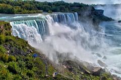 Niagara Falls (Gary Burke.) Tags: ny newyork canada wet water america canon eos rebel niagarafalls north upstate canadian tourists niagara falls observationplatform dslr overlook touristattraction americanfalls garyburke klingon65 t1i canoneosrebelt1i