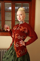 My best 1950s Housewife (TheYarnBearer) Tags: art fashion sweater knitting pattern designer knit yarn 1950s blonde booze lush housewife lulz peen ravelry pearlclutcher