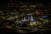 The Pixels and St Paul's - St Paul's Cathedral and London at night, viewed from The Shard (Warren Chrismas) Tags: city england sky urban building london st architecture night lights evening europe view cathedral desk britain pauls tourist nationalgallery shard hdr offices theview tallest urbanview 2013 takeaview landscapephotographeroftheyear lpoty