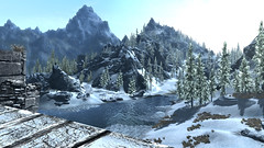 Windhelm bridge view (=IcaruS=) Tags: skyrim elderscrollsv windhelm