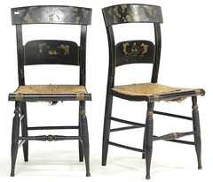 24. Pair of Antique Hitchcock Style Side Chairs