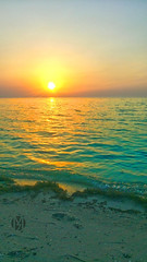 Arabian Gulf (m7diab) Tags: outdoor city doha mobile photography qatar gulf arab   filters effects traviling corniche sunset day life home seaside ocean landscape shore water coast sea beach sand sky natural relax relaxing brown m7diab sun m7 lonely sony xperia m5 summer view dukhan   blue morning  middle east