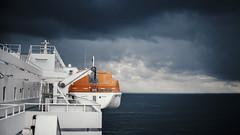 Forecast (LexSwamp) Tags: boat ferry storm orange minimal white architecture color colour uk dover whitecliffsofdover folkestone england unitedkingdom