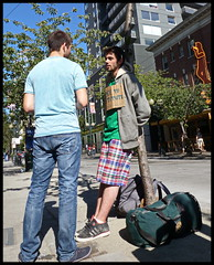 still too ugly (D G H) Tags: daveheston ugly prostitute panhandler street seattle male sign candid photography dgh