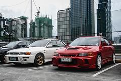 Rally Rivals (Justin Young Photography) Tags: cars manila philippines legendsofthe90s subaru impreza wrxsti gc8 mitsubishi lancerevolution evoiv cn9a