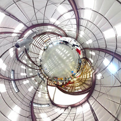 Pima Air & Space Museum Hangar 2 (Serendigity) Tags: tucson arizona unitedstates us polar usa panorama distorted aviation museum