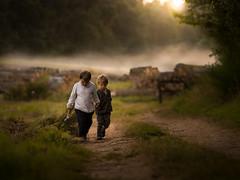 the key (iwona_podlasinska) Tags: key iwona podlasinska children boys brothers road mist sunset magical childhood