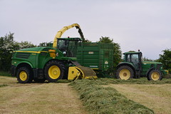 John Deere 8600 SPFH filling a Smyth FieldMaster Trailer drawn by a John Deere 6920 Tractor (Shane Casey CK25) Tags: john deere 8600 spfh filling smyth fieldmaster trailer drawn 6920 tractor jd green field master self propelled forage harvester silage pit clamp mitchelstown silage16 silage2016 grass grass16 grass2016 winter feed fodder county cork ireland irish farm farmer farming agri agriculture contractor ground soil earth cows cattle work working horse power horsepower hp pull pulling cut cutting crop lifting machine machinery nikon d7100 tracteur traktori traktor trekker trator cignik crops collecting collect