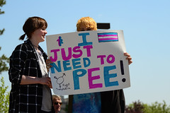 Let Them Pee (Vegan Butterfly) Tags: transgender trans rights activist activism rally protest love human oppression justice injustice transphobia bill 10 gay lesbian bisexual lgbt youth kids children school straight alliance signs people alberta legislature grounds edmonton protestors demonstration demonstrators event sexual orientation gender identity controversial controversy conflict public outside outdoor candid