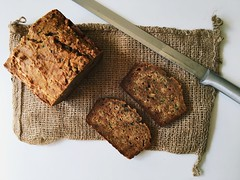 Zucchini bread. (jenschuetz) Tags: bread zucchini vegetable baking homemade diy craft hobby food paleo primal recipe lowsugar ingredients treat snack dessert breakfast meal slice sweet cooking