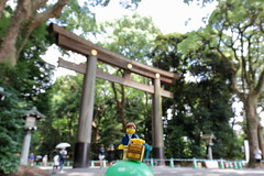 Travels of badger - Gate to Meiji Shrine (enigmabadger) Tags: brickarms lego custom minifig minifigure fig accessory accessories japan asia vacation trip travel outdoors japanese